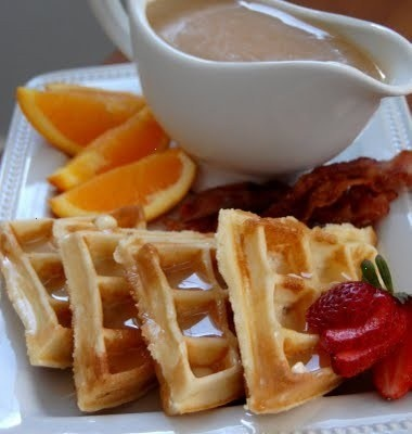 sour cream waffles with dutch honey | Food- to test... | Pinterest