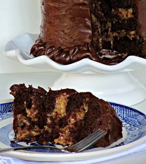 Inside Out German Chocolate Cake | Cakes Cheesecakes and Tortes | Pin ...