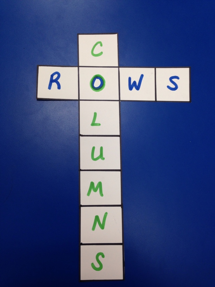 Rows And Columns Classroom Fun Pinterest