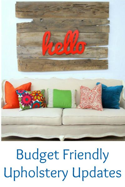 Budget friendly ideas for updating upholstered furniture from Remodelaholic.