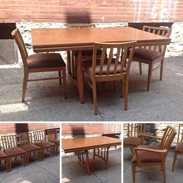 russelwright style dining table set rocket century st louis mo