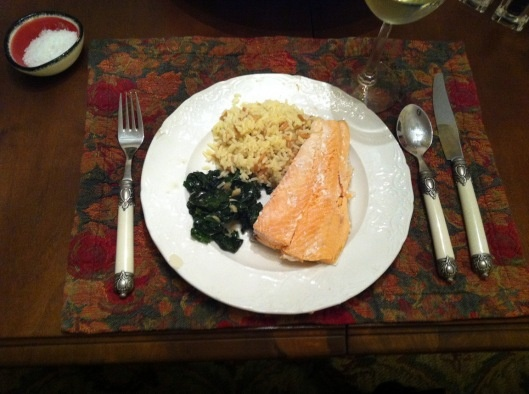 slow cooker simple poached salmon | To Eat | Pinterest