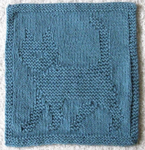 Knitted Dalek Pattern : Le Cat Dishcloth Knitted Dishcloth patterns Pinterest