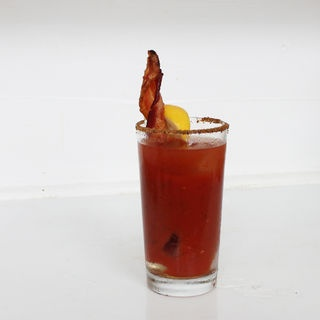 Bacon swizzle sticks for a bloody mary | Drink Me | Pinterest