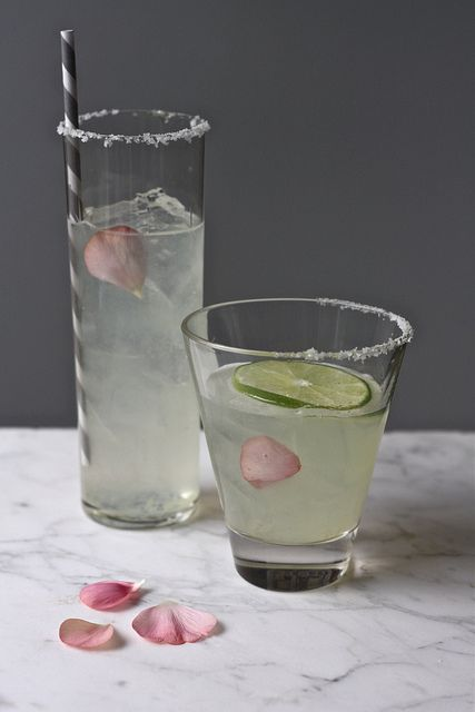 lime + rose syrup margarita.
