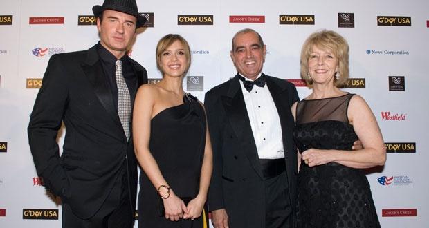 Julian McMahon and Jessica Alba, 2008 NY Black Tie Gala