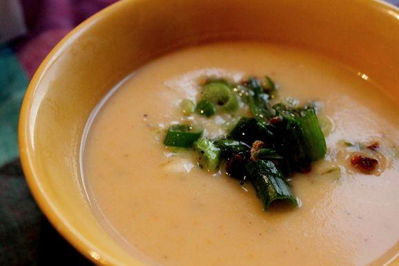 Creamy Potato Soup with Bacon Vinaigrette | Recipe