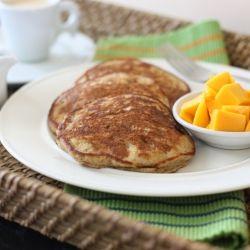Coconut Milk Flap Jacks - whole grain, dairy-free... love me some ...