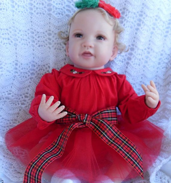 Red christmas dress with red tulle tutu by joysheartcreations 25 00