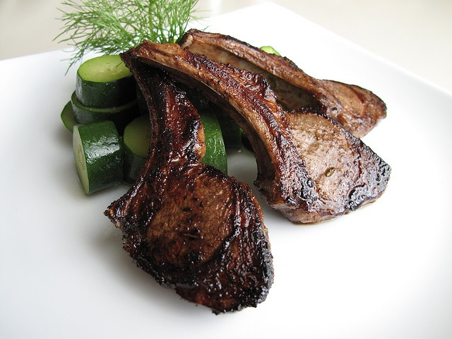 Balsamic-Marinated Lamb Chops | Main Dishes: Game | Pinterest
