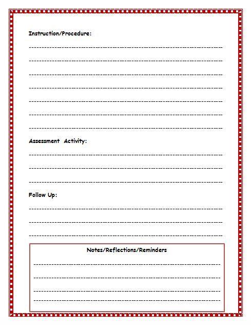 489 x 632 jpeg 47kB, Free Lesson Plan Template | Lesson Plan Template ...