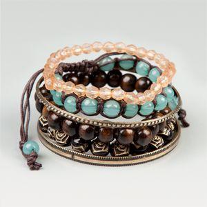 Bead & Bangle Bracelet Set