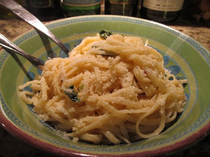 Spaghetti with lemon and olive oil   dinner   Pinterest