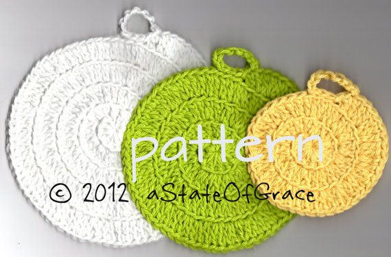 PATTERN - Nautilus Spiral Facial Scrubbie & Washcloth / Dishcloth, ho ...