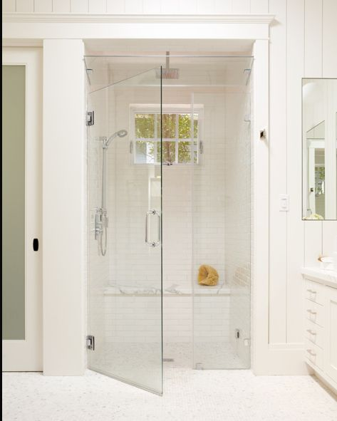 Glass Shower And Bench Bathe Pinterest