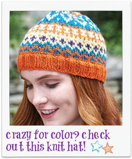 Extra crazy for color #knit hat :)