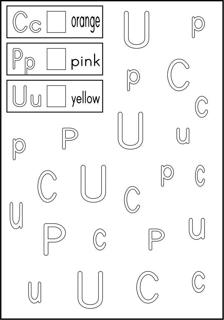 Worksheets Letter Recognition Worksheets For Kindergarten worksheets for kindergarten letter recognition pd alphabet abc pinterest