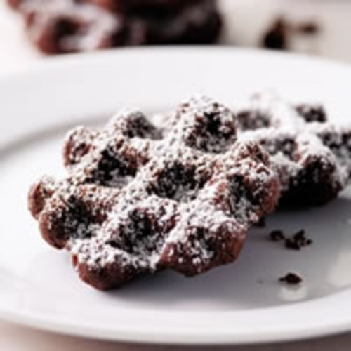 ... cookie exchange I have coming up - Chocolate Cookies Made w/ Waffle