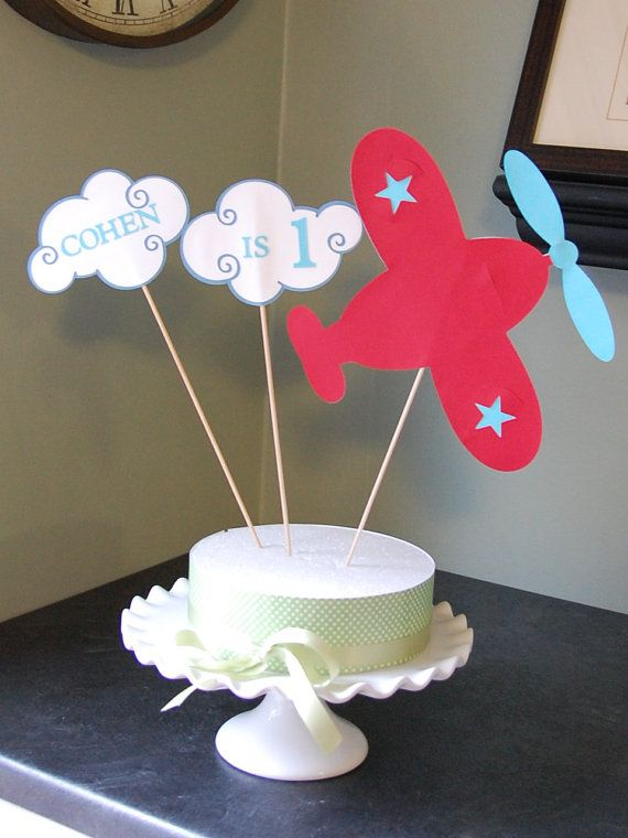 airplane cake topper airplane birthday decorations smash