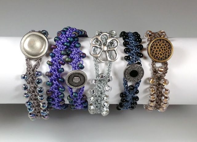 Turkish Flat Bead Crochet Bracelet, Marion Jewels in Fiber