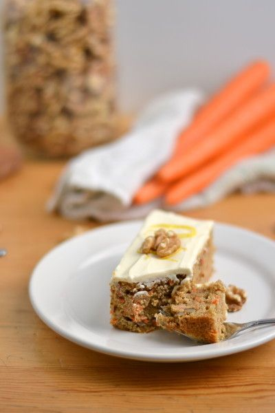 Whole Wheat Carrot Cake with Skinny Cream Cheese Frosting. -- healthy ...