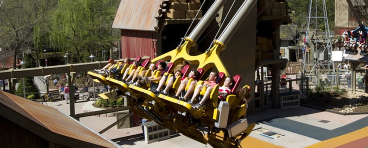 Pigeon Forge, TN - Dollywood. Theme park owned by Dolly Parton