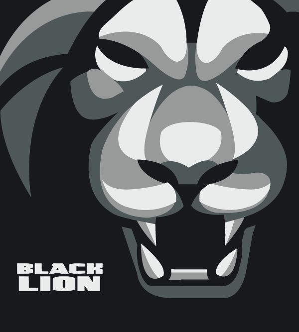 Black lion logo - photo#9