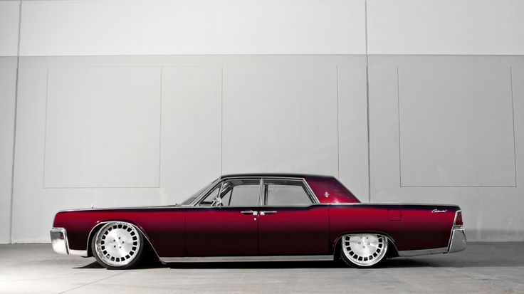 1964 lincoln continental 22 usw forged wheels accuair toyo tires in. Black Bedroom Furniture Sets. Home Design Ideas