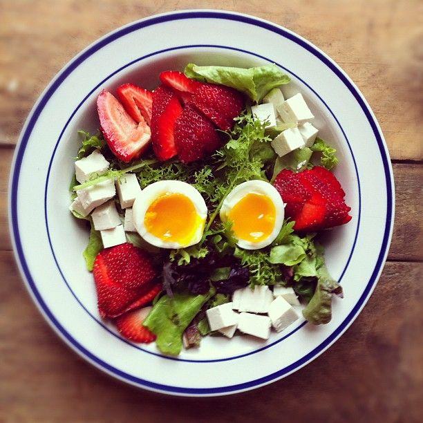 Salty + Sweet. Strawberry + Ricotta Salata Meet.