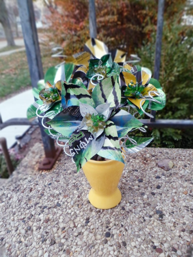 Aluminum Cans Flowers Made Out Of Aluminum Cans