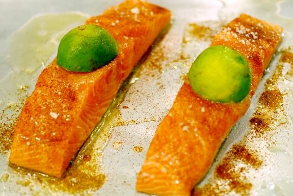 Chipotle lime salmon - candida diet