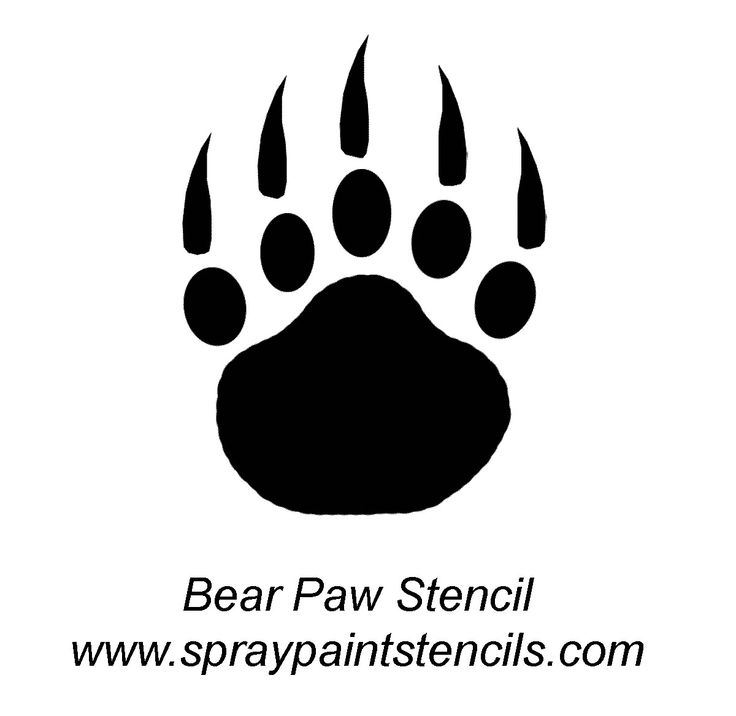 Wolf paw print outline