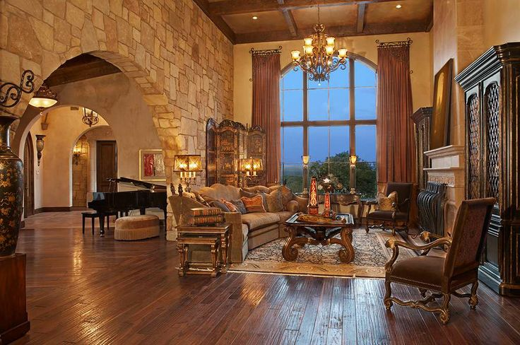 Tuscan style Living Rooms