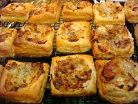 Smoky Mountain Café: Caramelized Onion and Apple Tarts with Gruyere