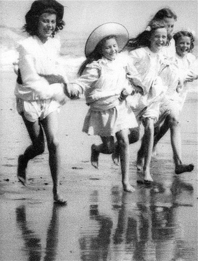Summer Fun. Before the war. 1914. Unknown photographer?