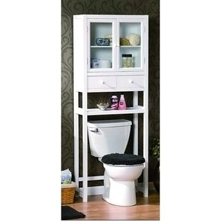 space saver over the toilet cabinet white