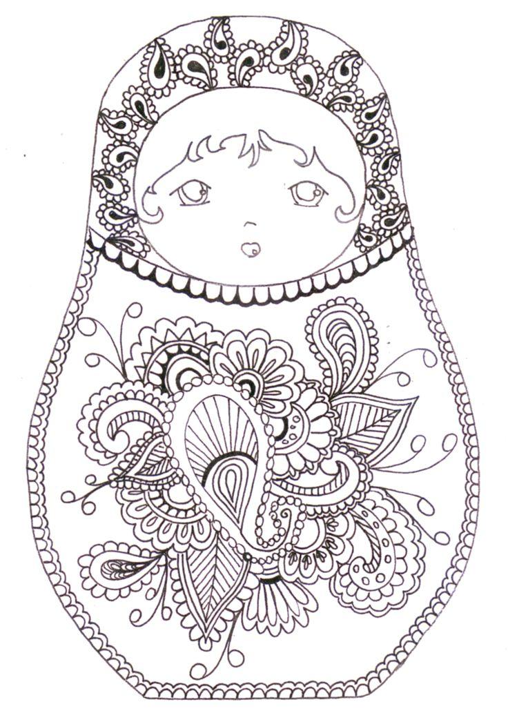 matroyshka dolls coloring pages - photo#28