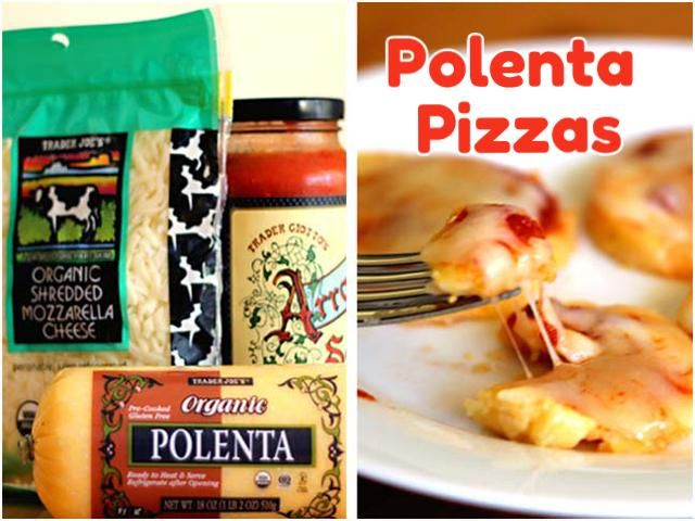 Kid Snack: Polenta Pizzas