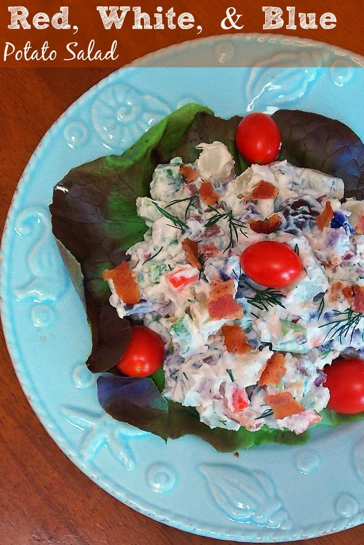 Red, White and Blue Potato Salad | Recipe
