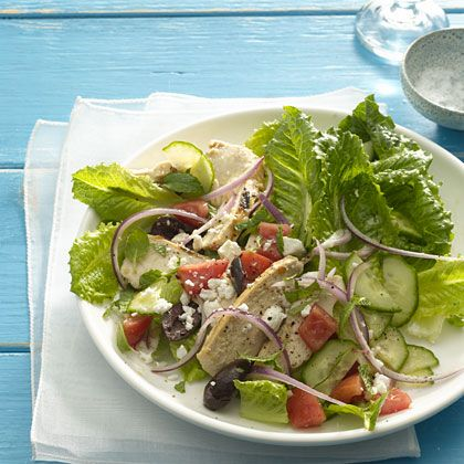 Greek Salad With Grilled Chicken Recipe - Health Mobile