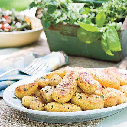 vegan: church style lemon roasted potatoes...