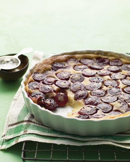 Cherry Clafouti _ Seasonal sweet cherries bedeck this clafouti, a ...