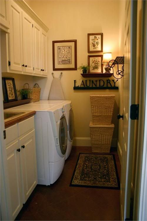 tight space made cozy home laundry mud room pinterest
