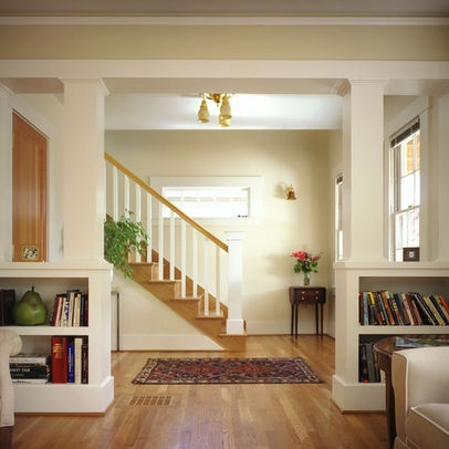 Half wall bookcase column for the home pinterest - Half wall bookcase room divider ...