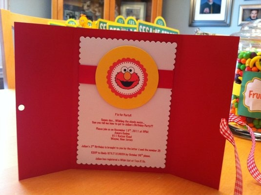 Inside Elmo Invitation