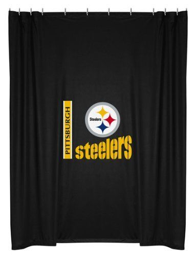 NFL Pittsburgh Steelers Shower Curtain | Sports Shower Curtain | Pint ...