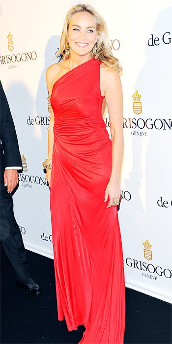 Sharon Stone in Roberto Cavalli in Cannes 2013