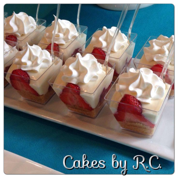 Dessert shots #cheesecake #strawberry | desserts | Pinterest
