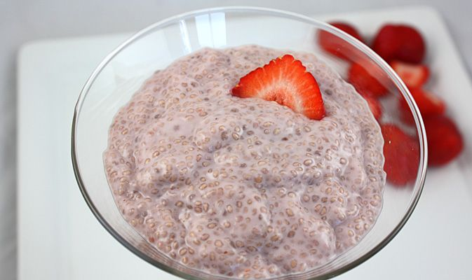 Strawberry Coconut pudding
