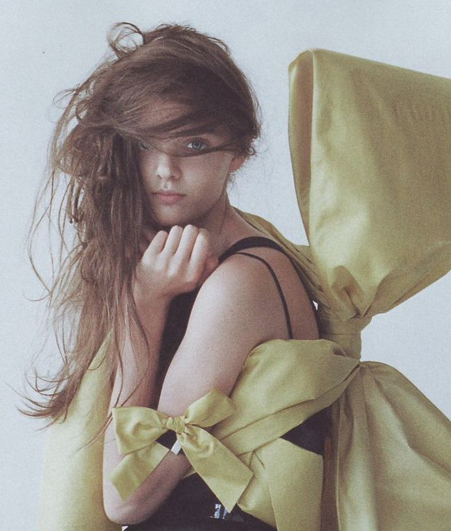 masha tyelna shot by tim walker for i-D magazine